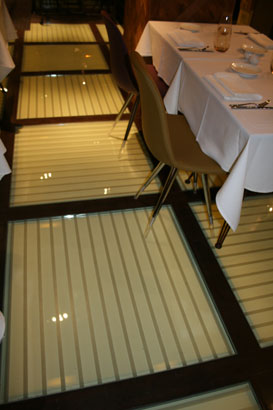 Close up of Glass Floor